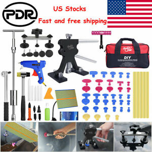 Pdr Tools Paintless Hail Repair Dent Puller Lifter Car Damage Removal Glue 68pc