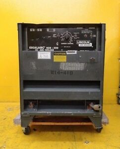 Lincoln Electric R3r 300 Dc Arc Welder Idealarc Used Working
