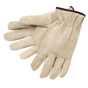 Gloves Mens Leather Work Mens Size M Suede Memphis Industrial Safety 3120m 12pr