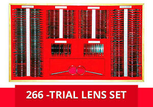 Trial Lens Set Argo 266 Pieces metal Rims Aluminum Case New