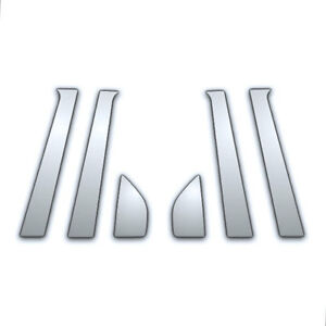 02 08 Chevy Aveo Sedan 6pc Chrome Pillar Side Covers