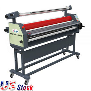 Us 63 Full Auto Wide Format Roll Heat Assisted Cold Laminator With Stand