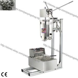 Commercial Home 3l Vertical Manual Spanish Donuts Churrera Churros Machine Maker