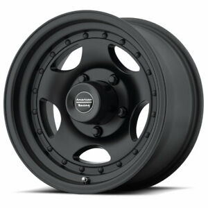 American Racing Ar23 15x7 5x127 Offset 6 Satin Black With Clearcoat Qty Of 1