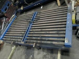 Lewco Cdlr Side By Side Powered Conveyors Each Is 55 w X 63 l 2 5 Dia Rollers
