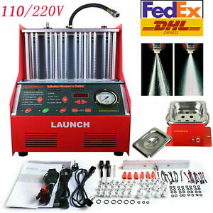 Launch Cnc602a 6 cylinder 110v Ultrasonic Fuel Injector Cleaner Tester Us Stock