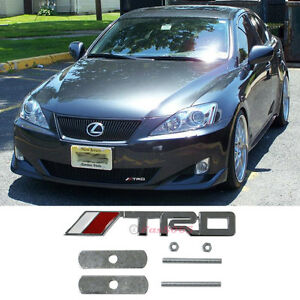 Trd Front Grill Badge Emblem Motor Sports Racing Developement Decal Sticker