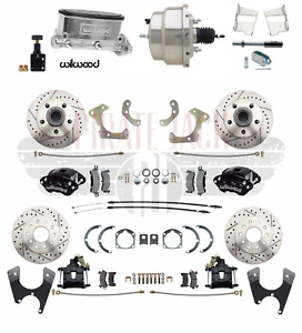 Chevy Belair 55 58 Front Rear Wilwood Disc Brake Chrome Booster Conversion Kit