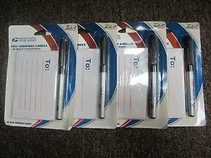 Lot Of 4 X Usps Self adhesive Labels Bic Mark it 30 Labels