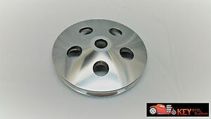 Polished Aluminum Saginaw Press On Power Steering Pulley Gm Chevy Single Groove