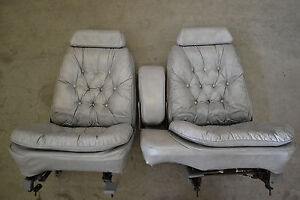 Leather Pillow Top Bucket Seats Lebaron Chrysler Hot Rod Truck Car