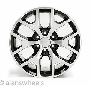 4 New Gmc Sierra Yukon Denali Black Machined Face 20 Wheels Rims Lug Nuts 5656