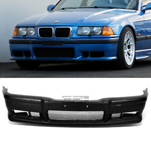 Fit 92 98 Bmw E36 3series 1pc M3 Style Replacement Front Bumper Body Kit grille