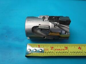 Used Iscar P290 Sm D2 0 4 2 1 75 18 Extended Flute Shell Mill 4 Flute 12 Insert