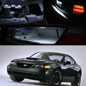 For 99 04 Ford Mustang Xenon White Led Interior Light Bulb Deal Package Kit