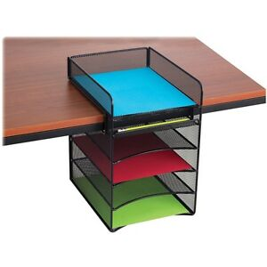 Safco Onyx Horizontal Hanging Storage 5 Compartment s 10 Height X 14