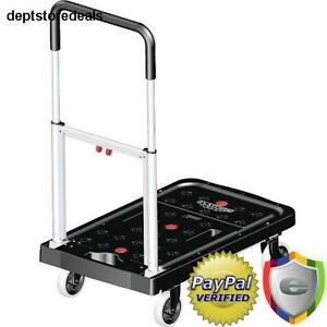 300 Lb Utility Cart Flatform Hand Truck Dolly Roll Lightweigh Folding Cargo Shop
