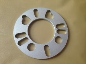Two Wheel Spacers 5 Mm Thick Universal Fit Spacers 4 Or 5 Lug