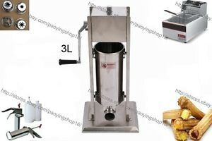 3l Manual Spanish Doughnuts Churros Machine W 6l Electric Fryer