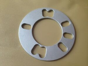 Two Wheel Spacers 3 Mm Thick Universal Fit Spacers 4 Or 5 Lug