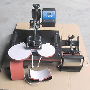 5 In 1 Diy Heat Press Machine Digital Transfer Printer For T shirt Mug Plate Hat