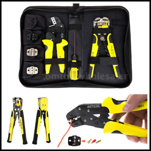 4 In 1 Wire Crimpers Engineering Ratcheting Terminal Crimping Pliers Tool Yc