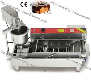 800pcs h Commercial Electric Automatic Doughnut Donut Machine Maker Fryer 3 Mold