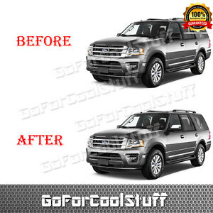 For 2007 2008 2009 2016 2017 Ford Expedition Top Half Mirror Cap Chrome Cover