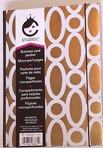 Staples Gold Studio C Lined Notebook Business Card Pocket Perforated Pages