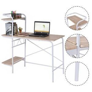 Computer Desk W 3 tier Book Shelf Home Office Furniture Laptop Writing Desk New