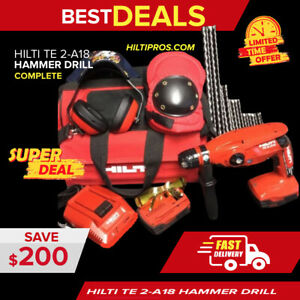 Hilti Te 2 a18 2 Batteries Preowned Free Extra Items Fast Ship