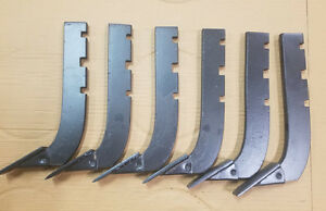 Lot Of 6 replacement 3 slot Howse Box Blade Shank 16 Part B 710 n Bb72n
