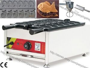 Commercial Nonstick Electric Taiyaki Fish Waffle Maker Machine Baker W Tool Set