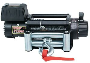 Tungsten4x4 Electric Winch 12000lbs 6 5hp 12v T12000