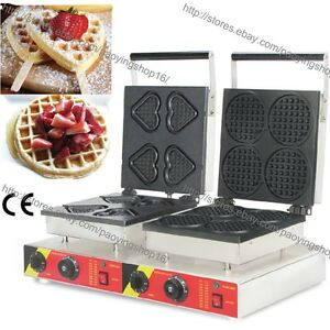 Commercial Nonstick Electric Heart Waffle Stick Mini Round Waffle Machine Baker