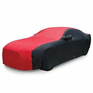 2005 2014 Ford Mustang Ultraguard Car Cover Two Tone Red Black