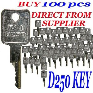 100 Pcs Case Ra4 D250 Key Bag Of 100 Keys Bobcat Case Terex