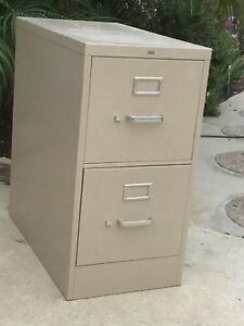 2 Drawer Letter Size File Cabinet By Hon Office Furniture Pick Up Only