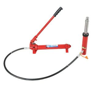 22000lbs 10 Ton Hydraulic Jack Pump Ram Engine Lift Hoist Cherry Picker Port New
