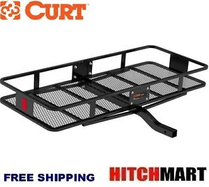 Curt Trailer Hitch Mount Fixed Cargo Rack Basket Carrier Fits 2 Opening 18152