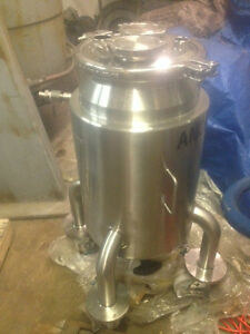 10 Gallon Allegheny Bradford Corp Stainless Steel Reactor W lid