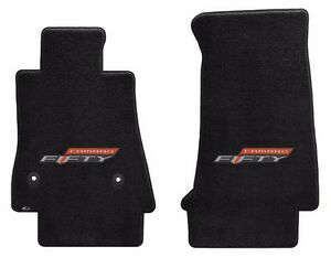 New Black Floor Mats 2016 2021 Camaro Embroidered 50th Fifty Anniversary Logo 2