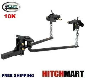 Curt 10k Mv Round Bar Weight Distribution Trailer Hitch W Shank 17052