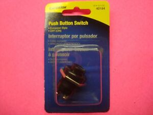 Universal Push Button Horn Start Switch European Style Off On 20amp 12v 1 Hole