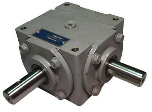 40 Hp Right Angle Bevel Gearbox W crosshole Keyed Shaft Cw ccw 1 1