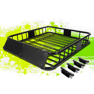 48 X 40 Heavy Duty Roof Top Rack Cargo Luggage Carrier Basket W Wind Fairing