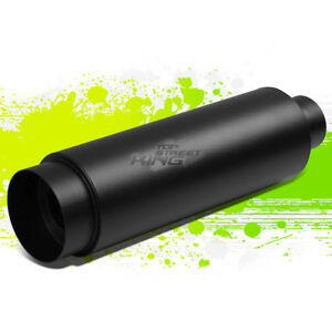 3 inlet With 4 5 black Style Tip silencer T304 Steel Round Exhaust Muffler