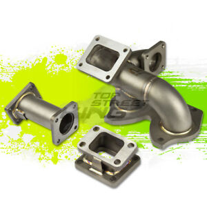J2 T4 t04 Flange Turbo Exhaust Manifold For 86 91 Mazda Rx7 Fc3s