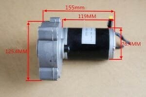 1pc Used Dc12v Brush Worm Gear Motor Reducing Motor 150w Large Torque High power