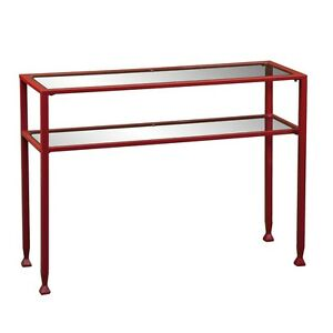 Southern Enterprises Metal glass Console Table Red